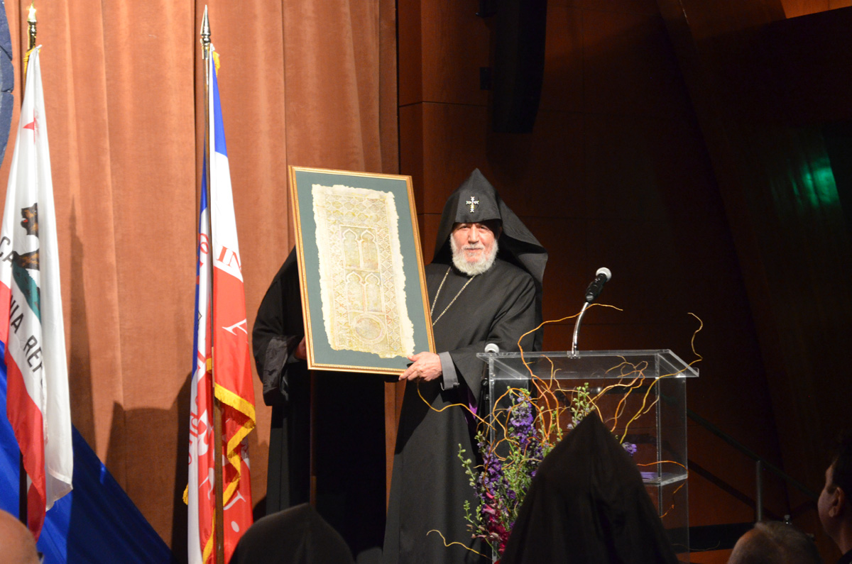 His Holiness Karekin II Visits AGBU WD