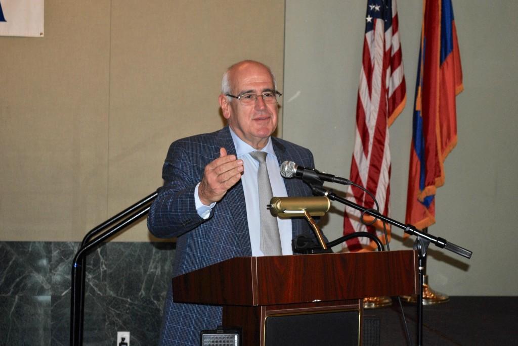 AGBU's President, Berge Setrakian speaks at AGBU Vatche & Tamar Manoukian High School