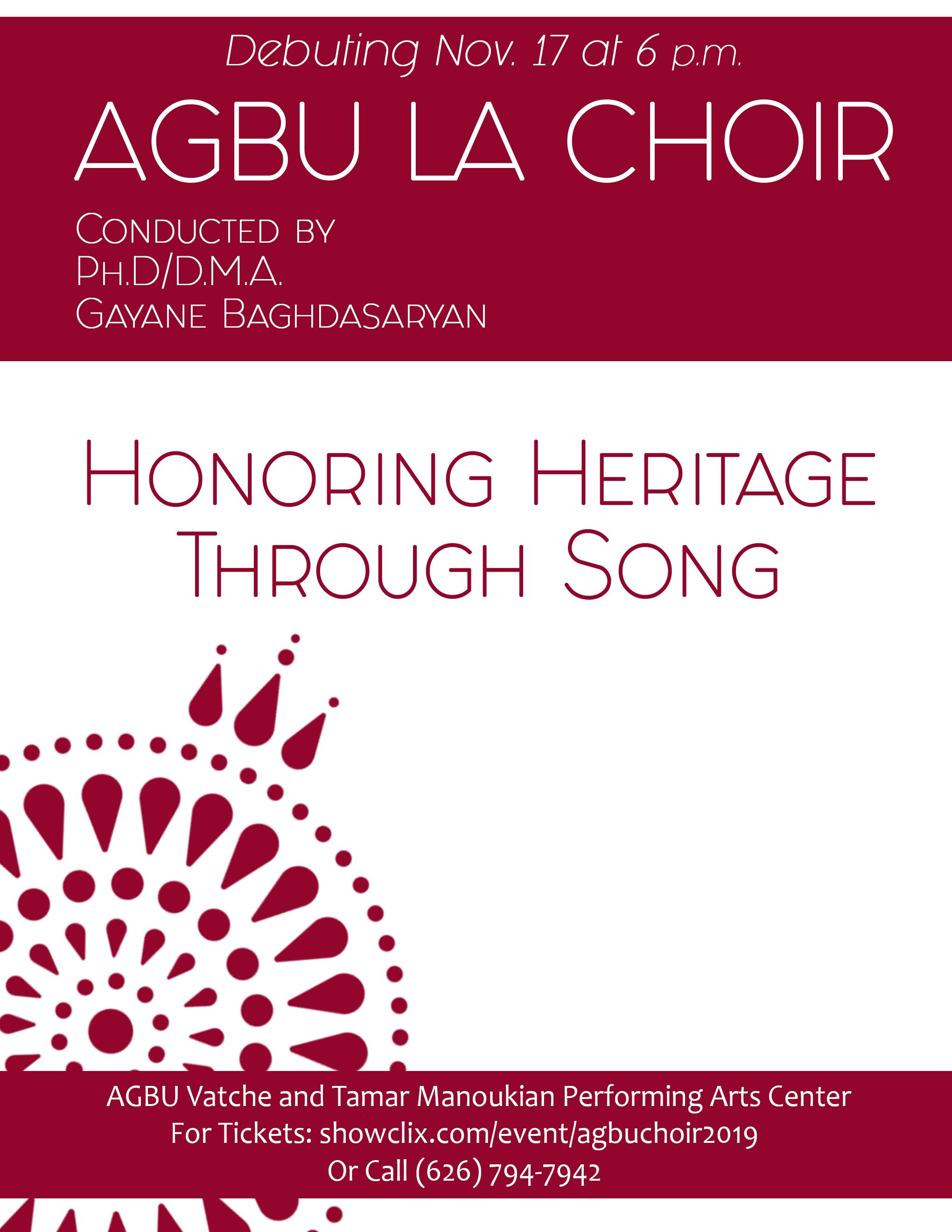 AGBU LA Choir's Debut Concert
