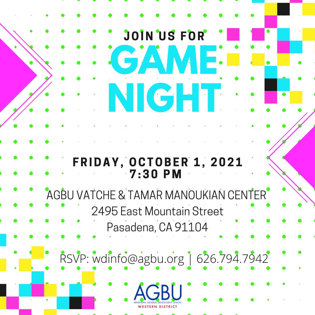 Game Night at the AGBU Pasadena Center